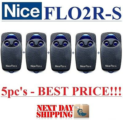 5 X FLO2R-S Nice, FLOR-S remote control transmitters, Rolling code!!! 5pc's!!!