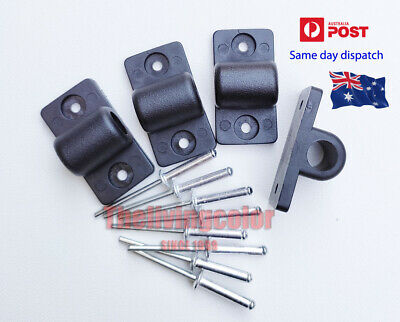 Ute Boat Marine Repairs Tonneau Bar Support Bracket x 4 + 8 rivet studs AU stock