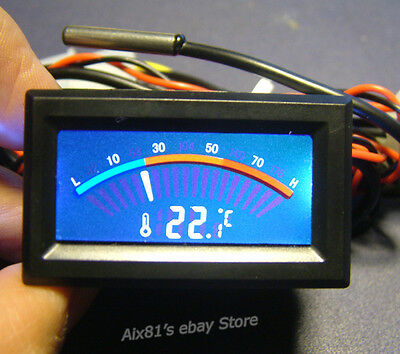 Digital LCD Thermometer Temperature Meter Water Liquid Cooler System Computer PC