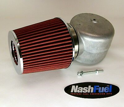 "IMPCO ADAPTER AIR FILTER CLEANER CT425M PROPANE MIXER KN 425 SNORKEL LPG 4"" HORN"