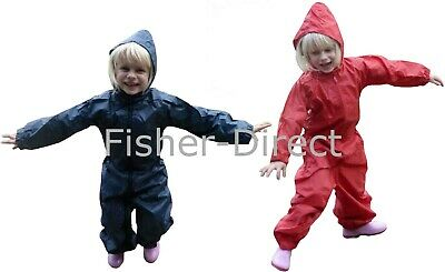 childrens all in one rain suit girls boys waterproof kids childs