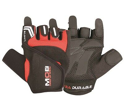 Leather Weight Lifting Padded Gloves Fitness Training Body Building Gym Straps