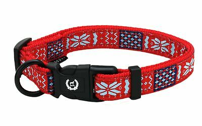Adjustable Nylon Dog Pet Collar Red 4 Sizes XS S M L US Seller