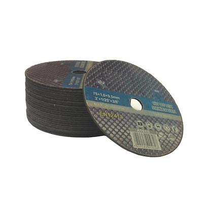 """(Pack of 30) 75mm x 1mm cut off discs 3"""" stainless inox metal cutting discs"""