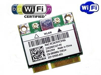 + Broadcom BCM94313HMG2L DW1504 Windows®10  WLAN Wifi 802.11 b/g/n Mini PCIe +