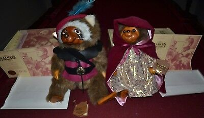 Robert Raikes Originals 1989 Sherwood Forest Robin Raccoon and Marian Hedgehog