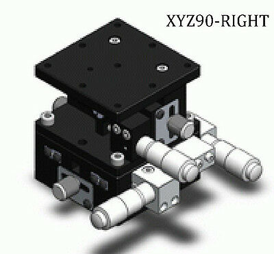 3 Axis XYZ Precision Linear Stage Cross Roller Bearing, 90mm x 90mm Right #U1-6R