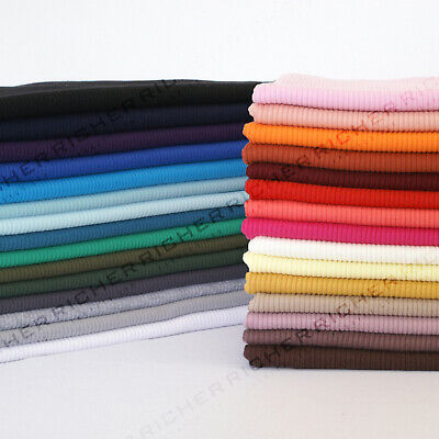 Half Meter 100% Knitted Cotton 2x2 Rib Babywear Stretch Jersey Fabric Material