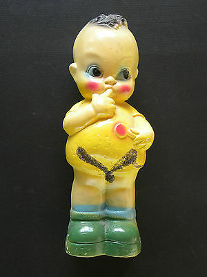 "ANTIQUE 1930'S CHALKWARE KEWPIE BANK 12 1/4"" VERY GOOD CONDITION #2"