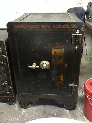 """Hassenforder Vintage Safe Strong Box 40""""x26""""x24"""" Hand Painted 4"""" Thick Antique"""