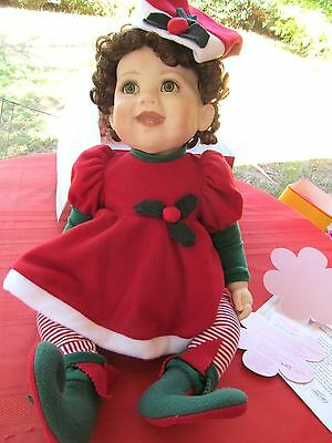 """MARIE OSMOND BABIES A BLOOM 22"""" DOLL HOLLY SANTA BLOOMER hug activated giggle"""