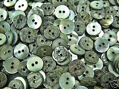 50pc 16L 10mm Smoke Grey Real Shell Button Agoya Mother of Pearl Crafts Sewing