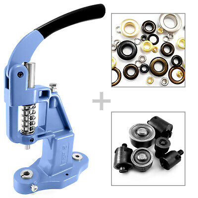Starter set - grommets hand press and 7 self piercing dies and 600 eyelets S022