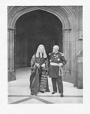 EARL OF HALSBURY & ADMIRAL LEYGUE at Westminster - Photographic Print 1906