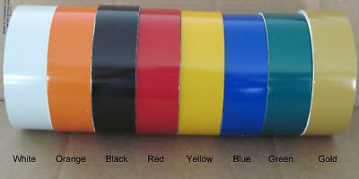 """YELLOW Reflective Pinstripe Tape 1"""" wide 10 ft"""