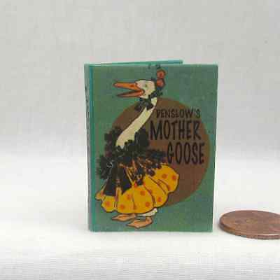 MOTHER GOOSE Miniature Book 1:6 Scale Book Readable Illustrated Book