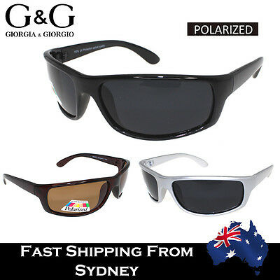 G&G Mens Sports Sunglasses Running Cycling Wrap Around Polarised UV Protection