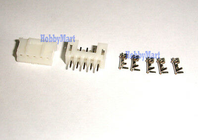 10 Sets, Micro JST 2.0mm PH 5-Pin 2.0 Connector plug Male ,Female, Crimps