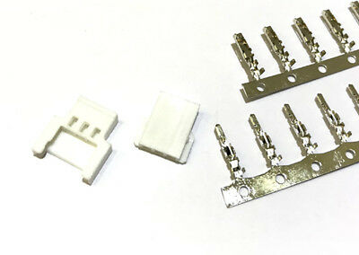 Losi Micro 2.0 3-Pin Connector plug ( Male, Female, Crimps) x 10 Sets