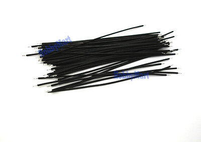 50 pcs, 1007 26AWG, Black Color Wire Length : 200mm end to end solder