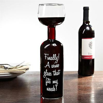 The Wine Glass Bottle | holds a 750ml bottle cup of red white or champagne