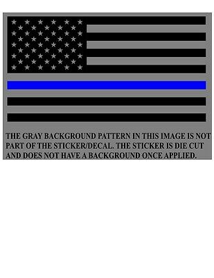 2X American Flag Thin Blue Line Sticker Vinyl Decal AR-15 Lower Tactical Police