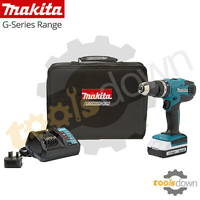 Makita 18v Li-ion Cordless Hammer Combi Drill + 1 x Battery , Charger & Case