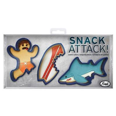 Snack Attack Cookie Cutters by Fred | Shark Cutter Surfer Surf Beach Party