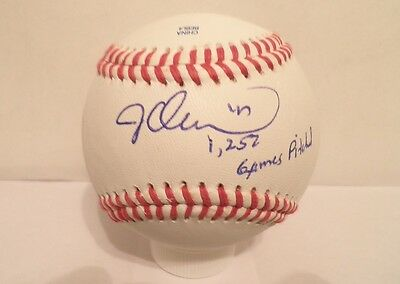 Jesse Orosco Signed Autographed Inscribed '1252 Games Pitched' Baseball NY Mets