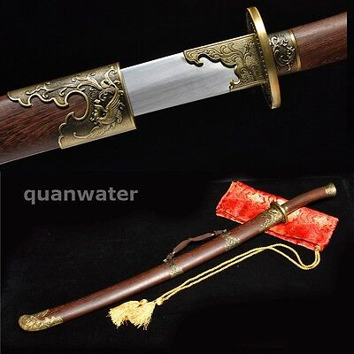 29' Rosewood 1060 Carbon Steel Blade Hand Made Chinese Phoenix Sword Dao