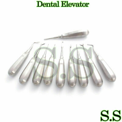 10 Dental Elevators MIX Surgical Medical Instruments