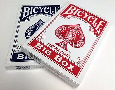 Set of 2 Bicycle Big Box Blue & Red Playing Cards Deck New US Made