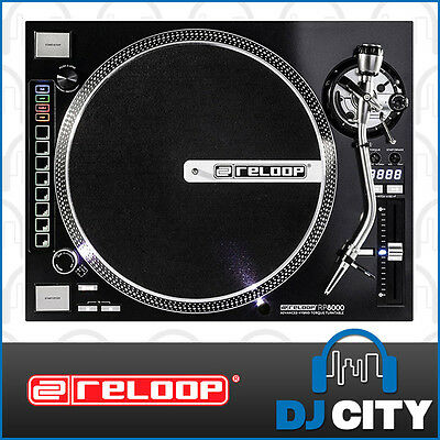 Reloop RP-8000 Direct Drive Professional DJ Vinyl Turntable with Hybrid Midi ...