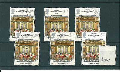 Gb - Wholesale - London Economic Summit - 1984 - F91 - Six Stamps  - Fine  Used