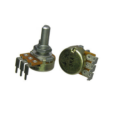 "5K Audio Taper Potentiometer 40 Detents 1/4"" D Shaft Log Pot"