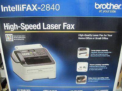 Brother FAX 2840 IntelliFax-2840 High-Speed Laser FAX Machine - New