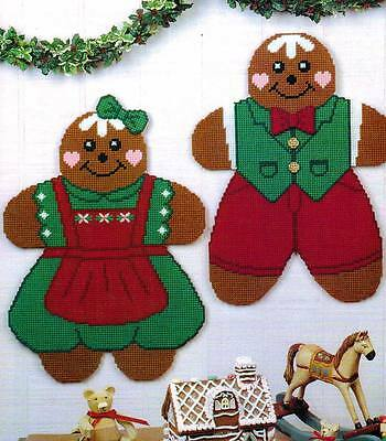 Gingerbread Boy & Girl Christmas Plastic Canvas Pattern Instructions