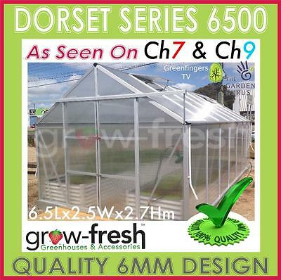 6mm ALUMINIUM POLYCARBONATE Garden GREENHOUSE Shade GREEN HOT HOUSE Shed 6.5S