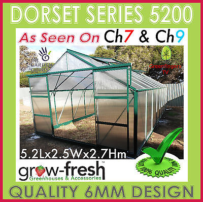 6mm ALUMINIUM POLYCARBONATE Garden GREENHOUSE Shade GREEN HOT HOUSE Shed 5.2G