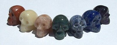 Mystical Skull Chakra Crystal Stone 7 Piece Set - Free & Fast Shipping From USA