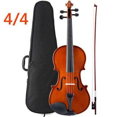 Bentoni 4/4 Full Size Natural Acoustic Wood Student Violin Fiddle Case Bow Rosin