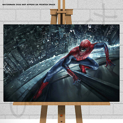 Spiderman Spider-Man Canvas Picture Print Marvel Comics Superhero Red Blue Art