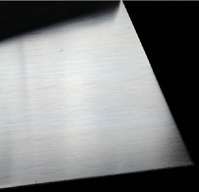 1pcs 304 Stainless Steel Fine Polished Plate Sheet 1mm x 200mm x 200mm #E6-F  GY