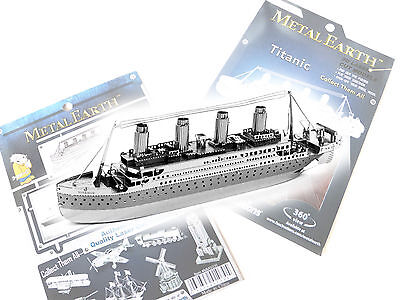Fascinations Metal Earth RMS ShipTitantic 3D Laser Cut Steel Metal Model Puzzle