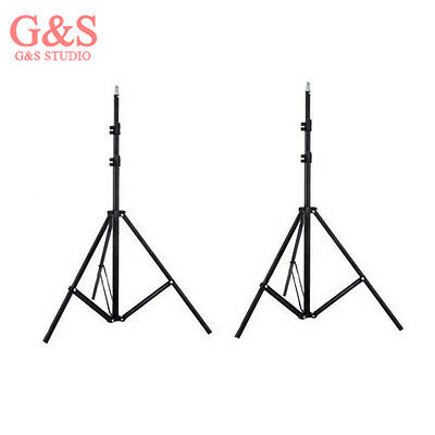 2PCS Light Stand Collapsible 200cm(78.7in) for photo video lighting 3 sections