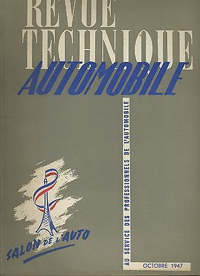 (C2)REVUE TECHNIQUE AUTOMOBILE SALON 1947 / HOTCHKISS 680 et 686
