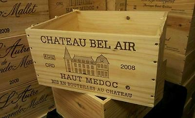 French 6 Bottle Genuine Wooden Wine Crate Box  / Planter / Hamper Storage