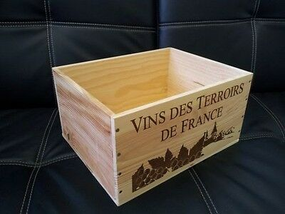 Marked Seconds- 6 Bottle Size French Wooden Wine Crate Box Hamper  Storage