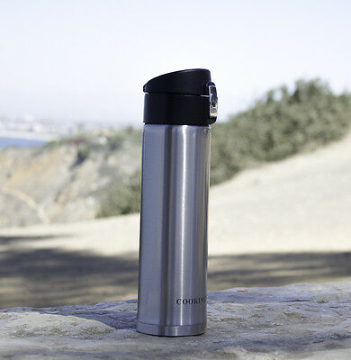 16 Oz Stainless Steel Vacuum Thermos - Portable Insulated Travel Flask Bottle
