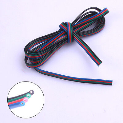 1-100M 4 broches RGB LED fil Extension Cable Connector Pour 3528 5050 Strip RVB